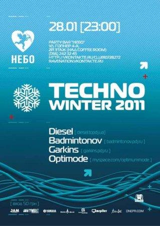 28 января, TECHNO WINTER 2011, Party Bar НЕБО