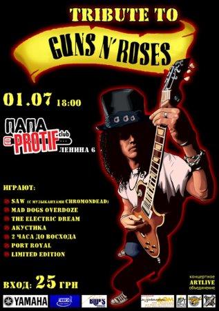 1 июля, Tribute to GunsnRoses, Папа Protif, концерт холл