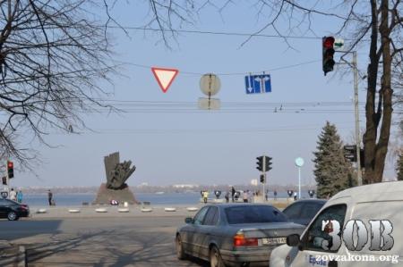 «VIP-полосы» для депутатов и милиции на улице Ленина в Днепропетровске