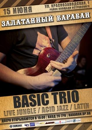 15 июня, Сольный концерт Basic Trio.