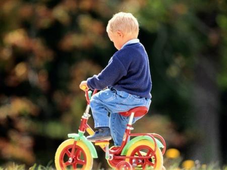 Малыш ехал на трехколесном велосипеде из Казатина к маме в Киев