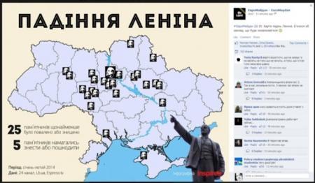 В Днепропетровске разбирают памятник Ленину
