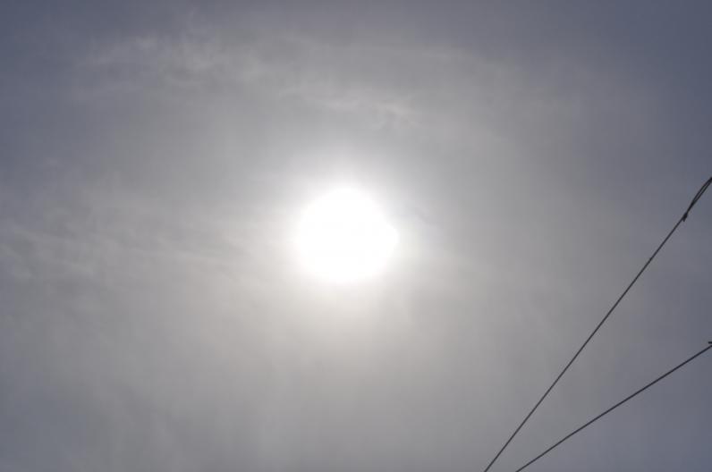 Днепропетровск наблюдает солнечное затмение