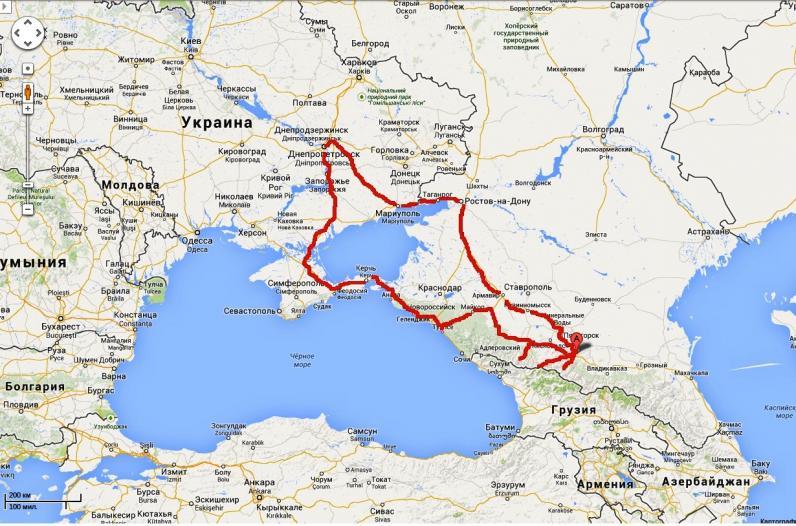 Мото-путешествие на Кавказ