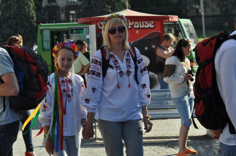 Как в Днепропетровске День вышиванки отмечали (Фотоотчет)
