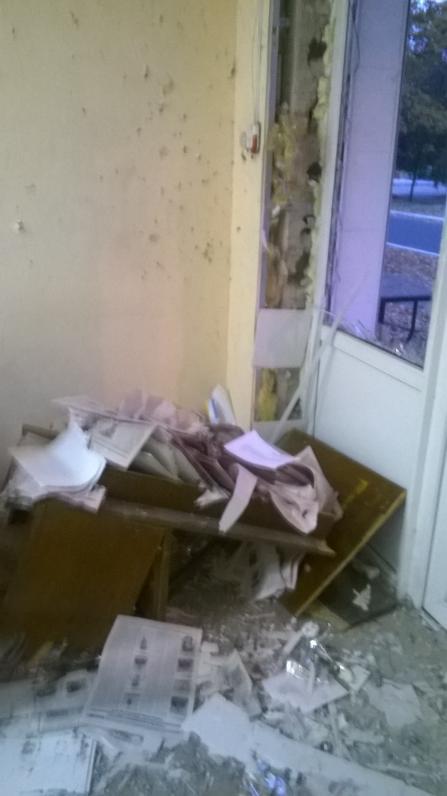 В Желтых Водах взорвали офис одной из партий (Фото)