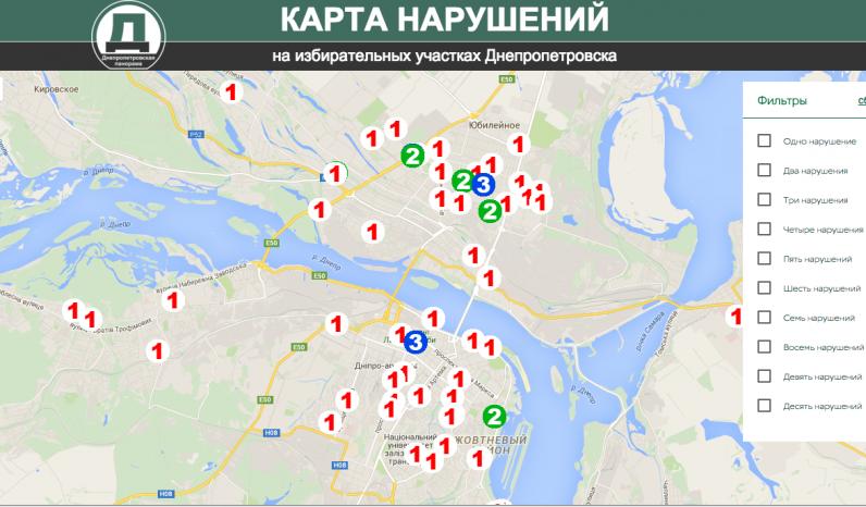Где и как в Днепропетровске нарушают избирательное законодательство