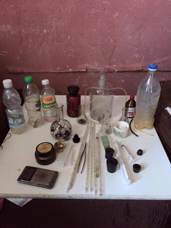 В центре Днепропетровска обнаружили нарколабораторию (ФОТО)