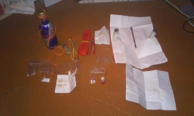 В Днепропетровске полицейские у наркосбытчицы нашли самодельное взрывное устройство