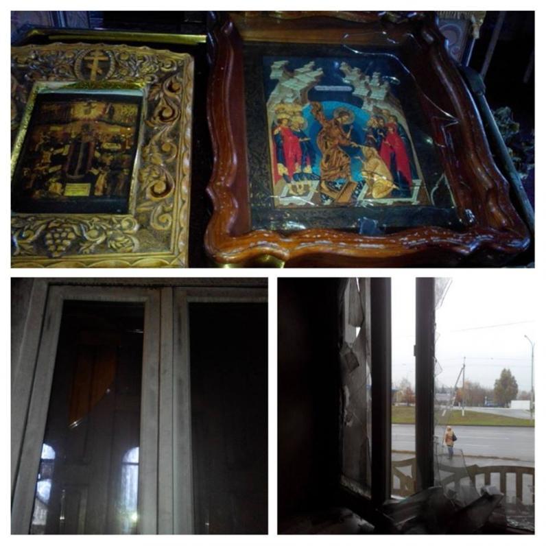 В Павлограде горел храм МП