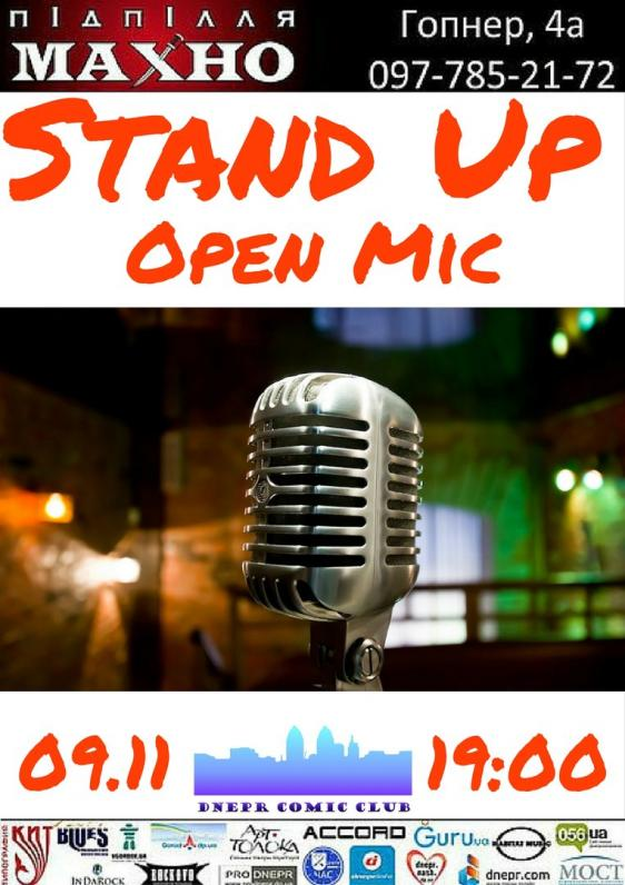 Stand Up + Open Mic