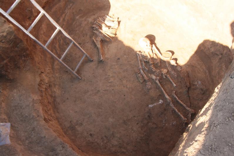 На Днепропетровщине археологи нашли скелет скифской девушки