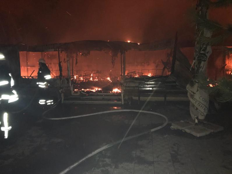В Подгородном сгорело кафе