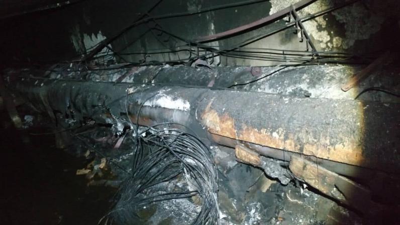 В Днепре горели кабели связи: не работает телевидение и интернет (Фото)