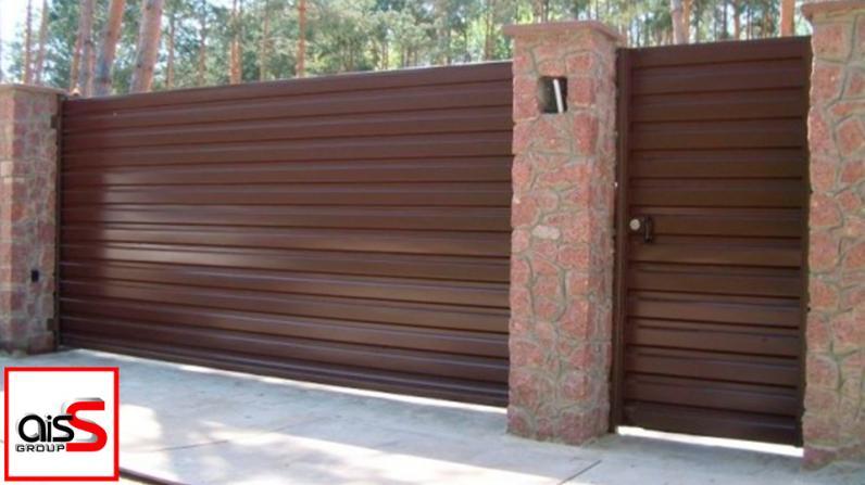 Стильные уличные ворота для вашего объекта от запорожского производителя