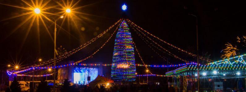В парке Глобы запустили поезд Деда Мороза