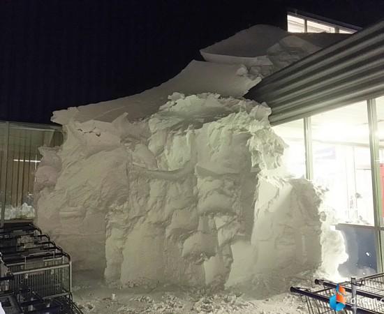 МЕТРО завалило снегом